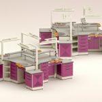 M – 280 Arbeitstische für vier Zahntechniker